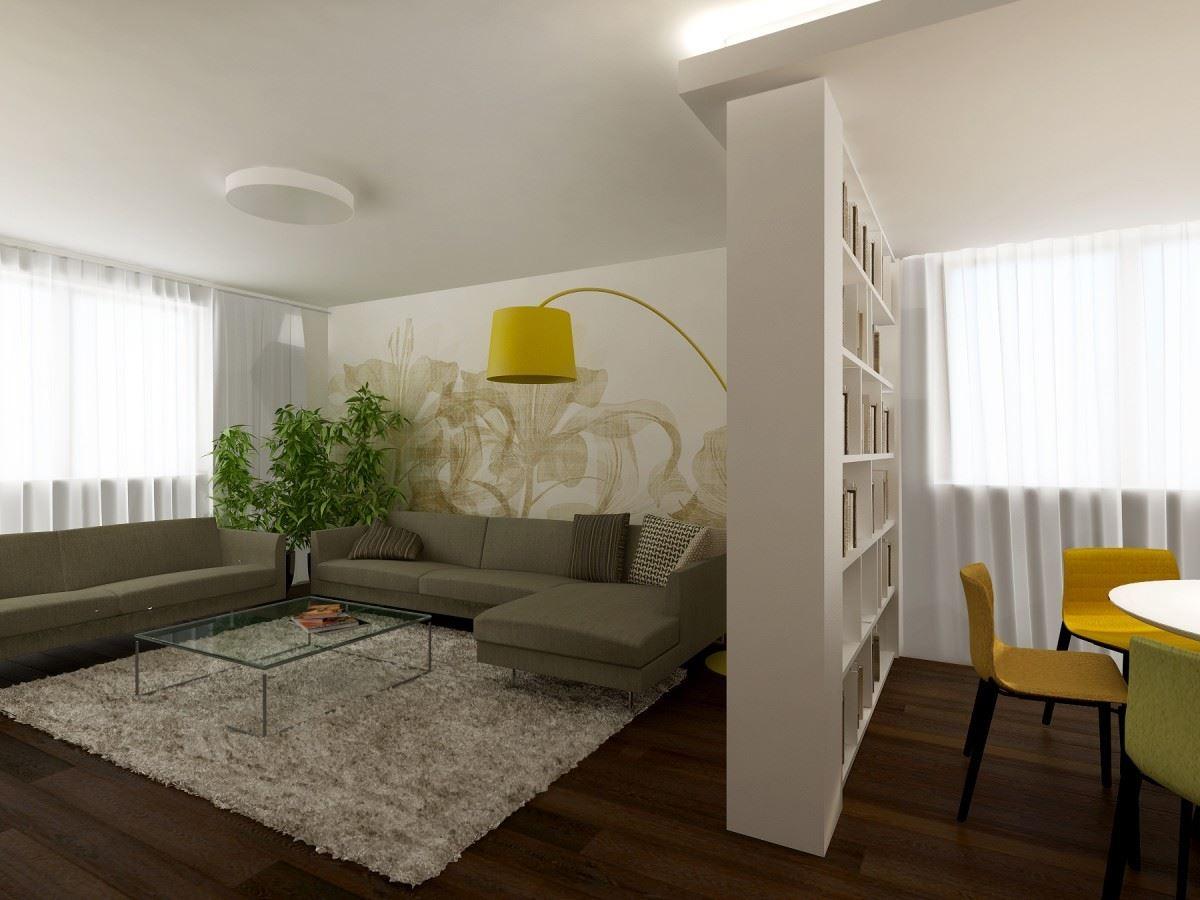 Угловой диван со спальным местом в гостиной (2)