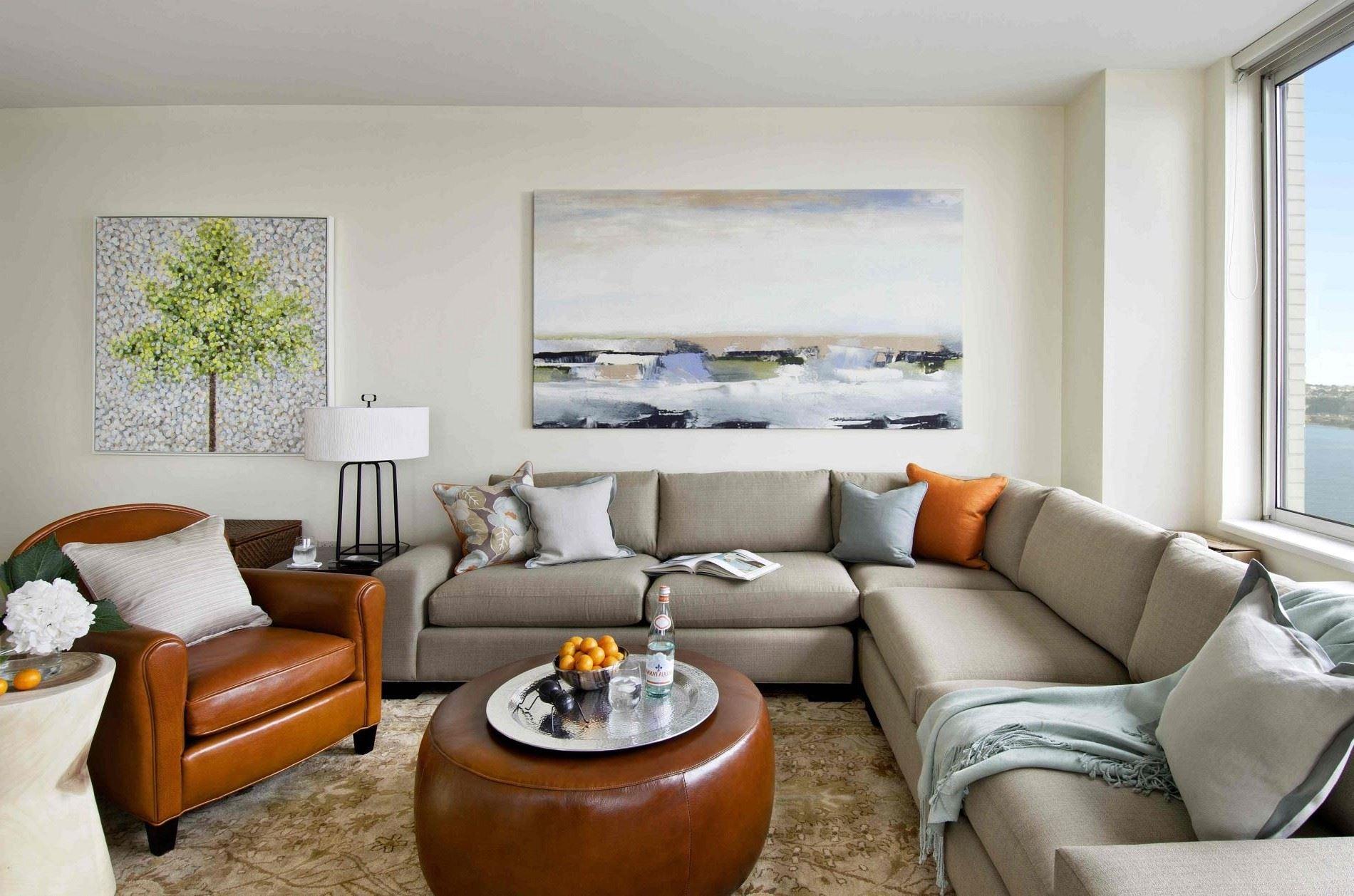 Угловой диван со спальным местом в гостиной (28)