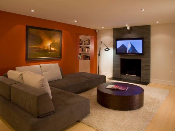 Угловой диван со спальным местом в гостиной (31)