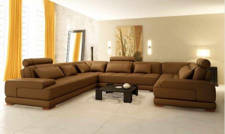 Угловой диван со спальным местом в гостиной (5)