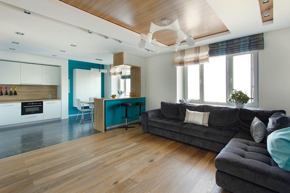 Угловой диван со спальным местом в гостиной (6)