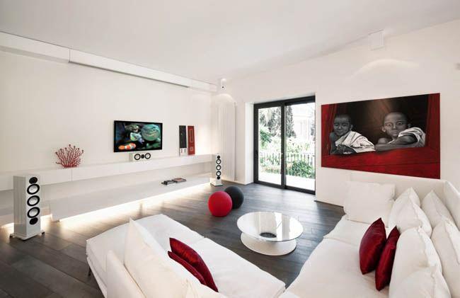 Угловой диван со спальным местом в гостиной (8)