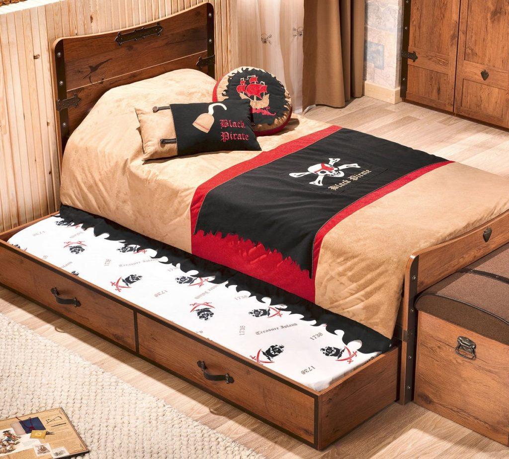 Кровать для двоих детей в интерьере комнаты