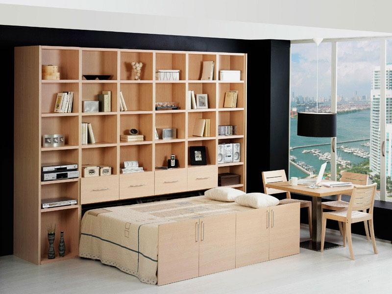 Выдвижная кровать встроенная в шкаф