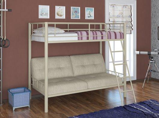 Двухъярусная кровать для детей с диваном внизу (9)
