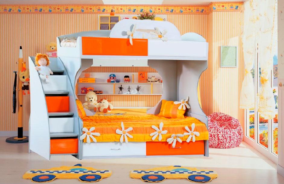 Двухъярусная кровать для детей (12)