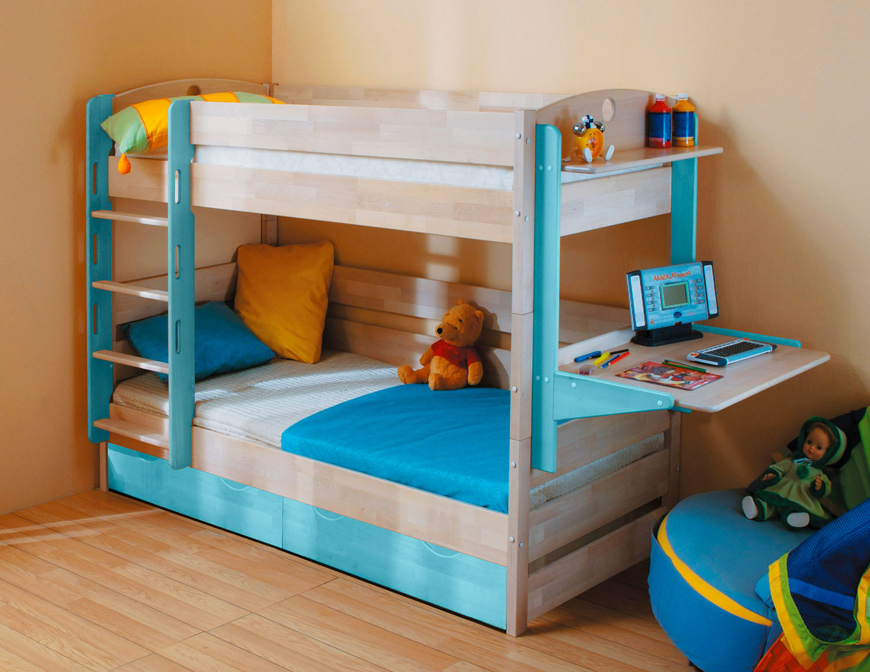 Двухъярусная кровать для детей (16)