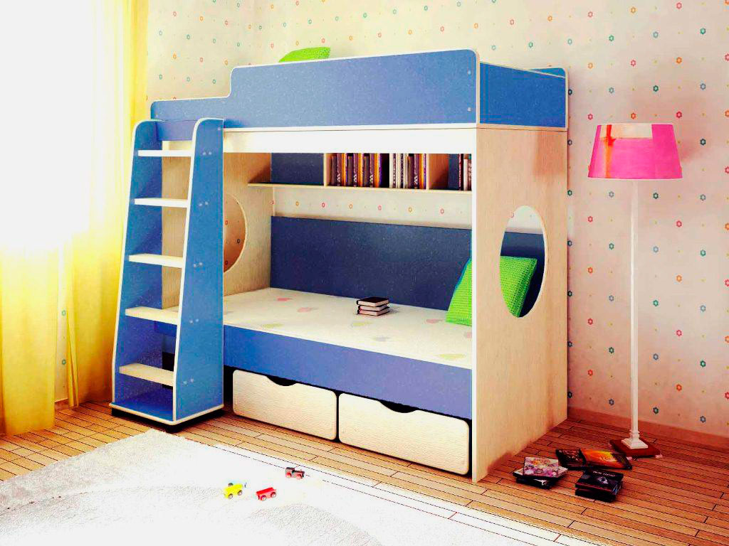 Двухъярусная кровать для детей (22)