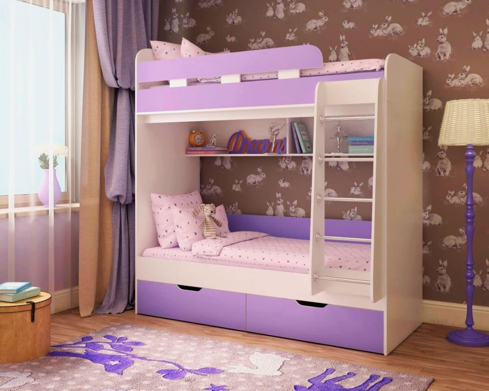 Двухъярусная кровать для детей (38)