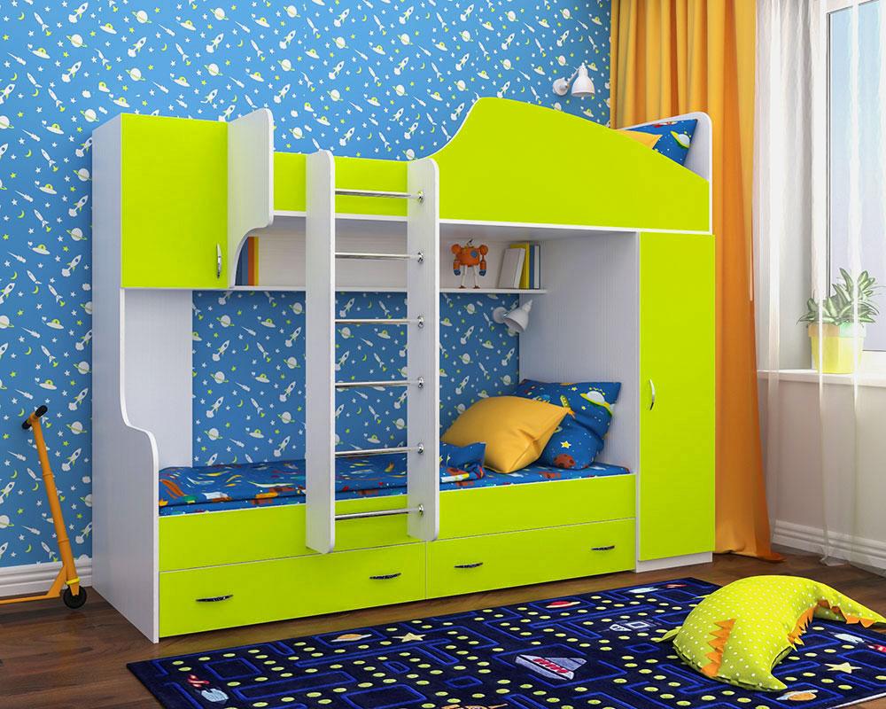 Двухъярусная кровать для детей (39)