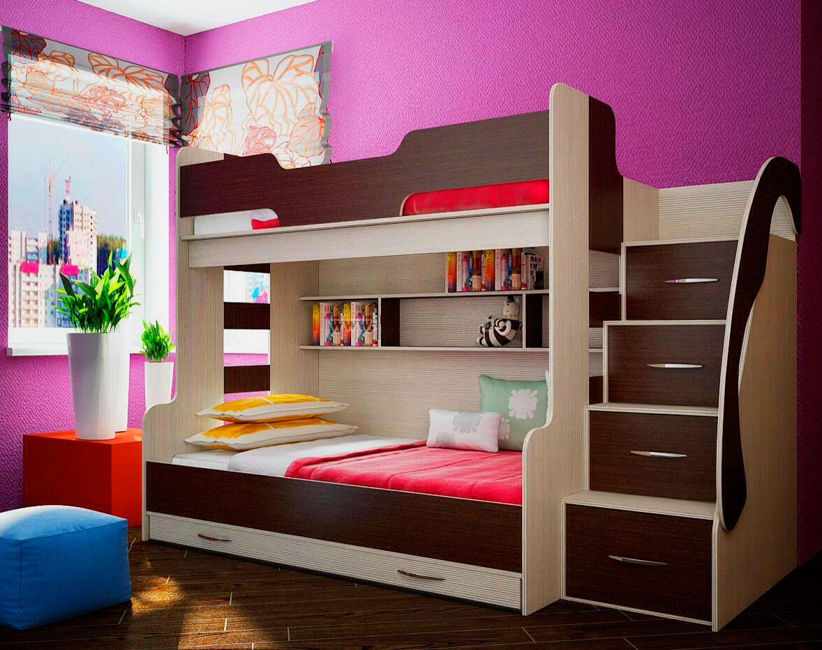 Двухъярусная кровать для детей (40)
