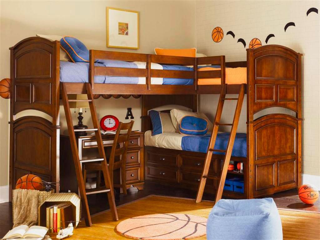 Двухъярусная кровать для детей (41)