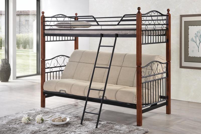 Двухъярусный диван с раскладным диваном внизу для сна с ортопедическим матрасом