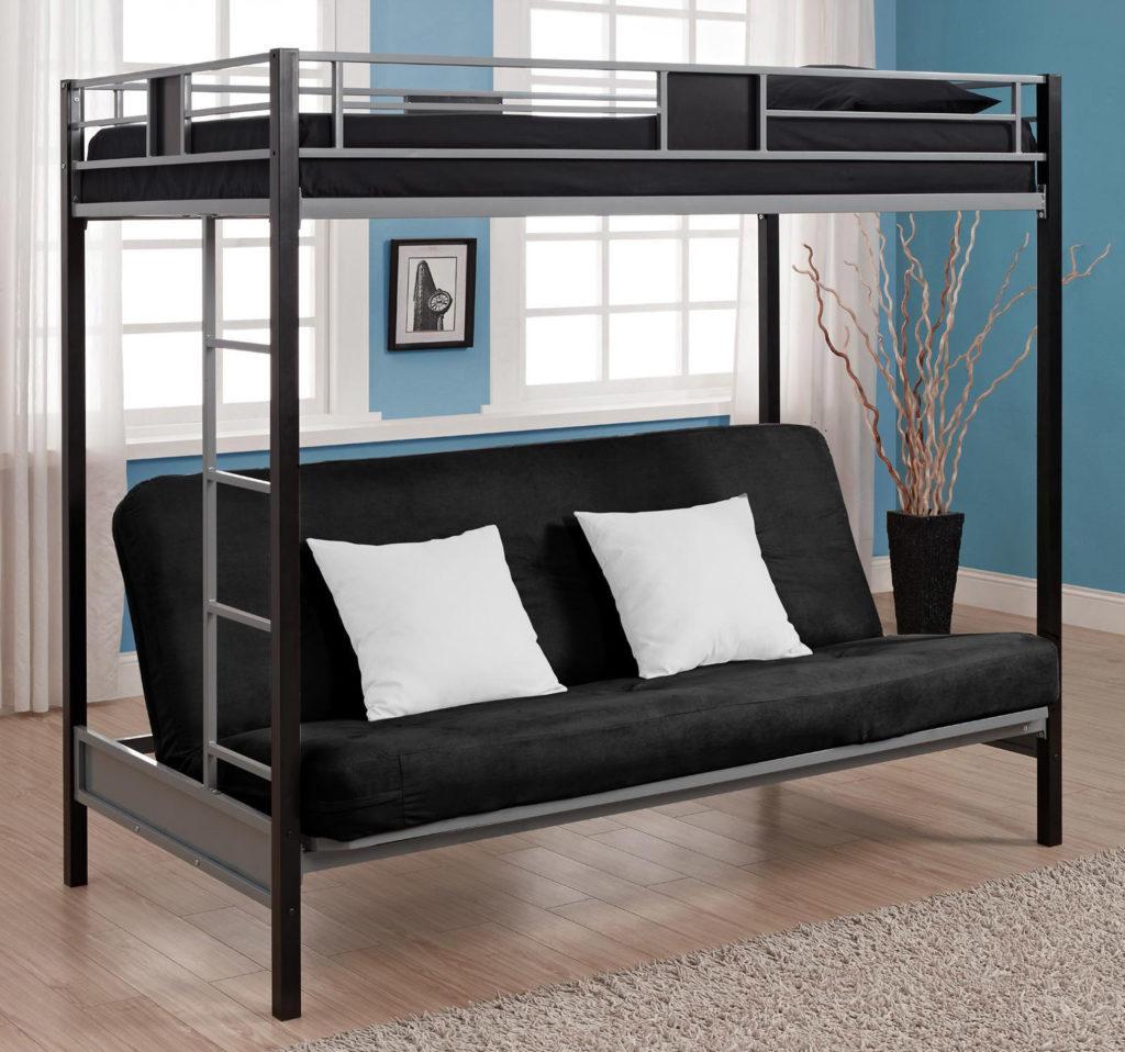 Двухъярусная диван-кровать с раскладным диваном внизу