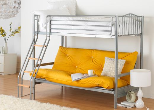 Фото двухъярусной кровати с диваном для сна с механизмом книжка