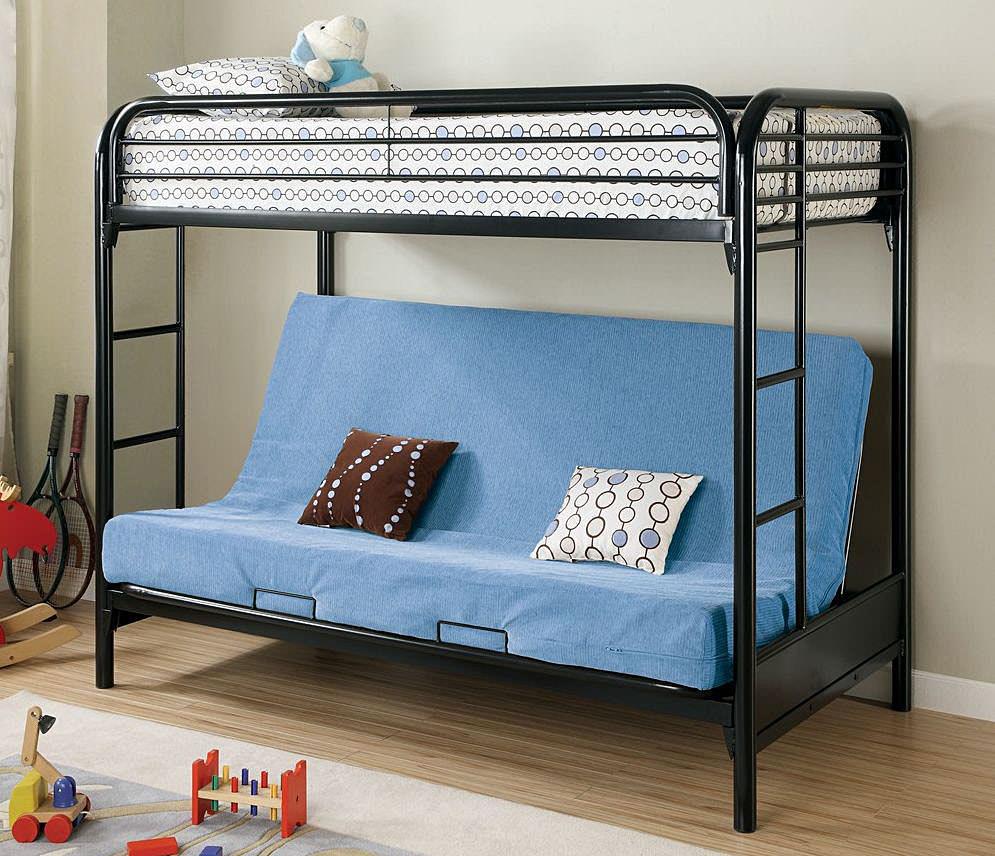 Кровать чердак со встроенным раскладным диваном для сна внизу