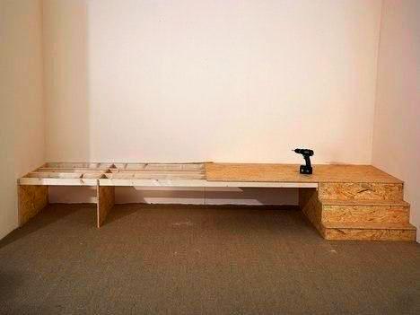Подиум под кровать сделанный своими руками