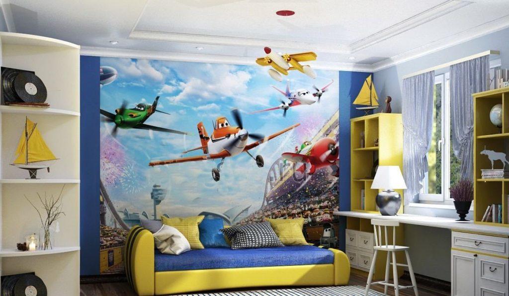 Дизайн детской комнаты с диван-кроватью в интерьере