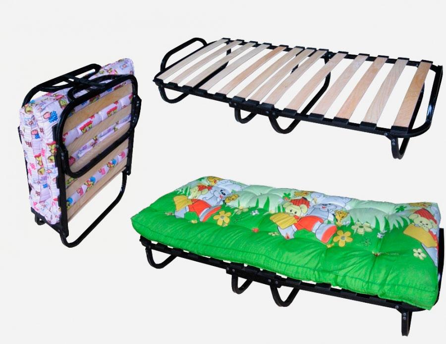 Раскладная кровать для детей с ортопедическим основанием на ламелях