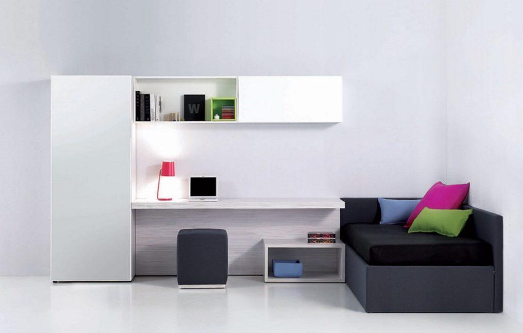 Угловой диван-кушетка в детской комнате