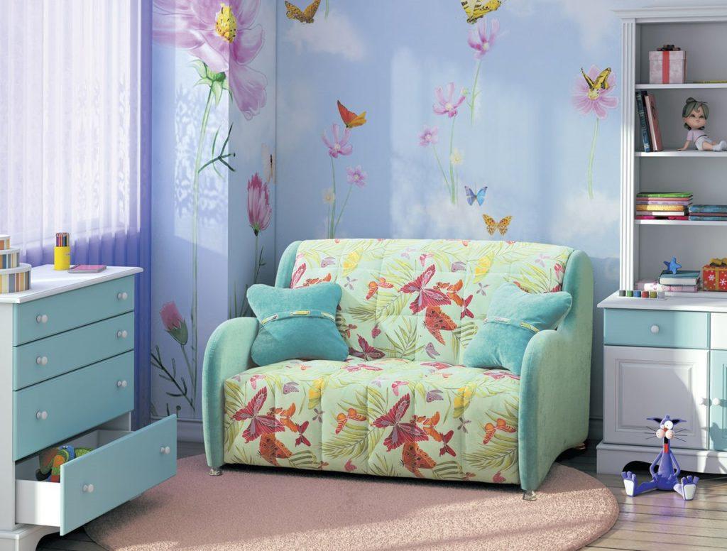 Раскладной ортопедический диван-кровать для ребёнка