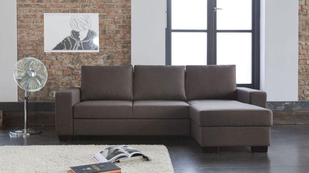 Тканевый угловой диван с механизмом трансформации для сна