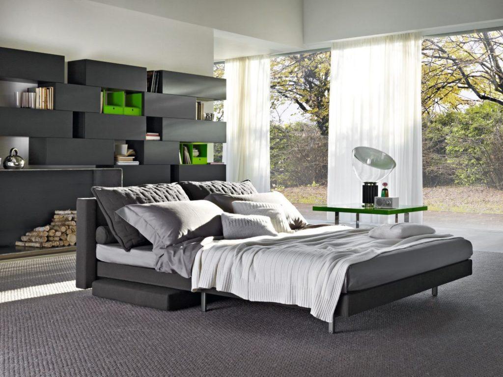 Фото спальной с диваном вместо кровати