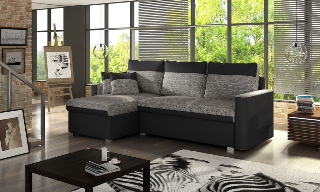 Небольшой угловой диван с механизмом раскладывания для ежедневного использования