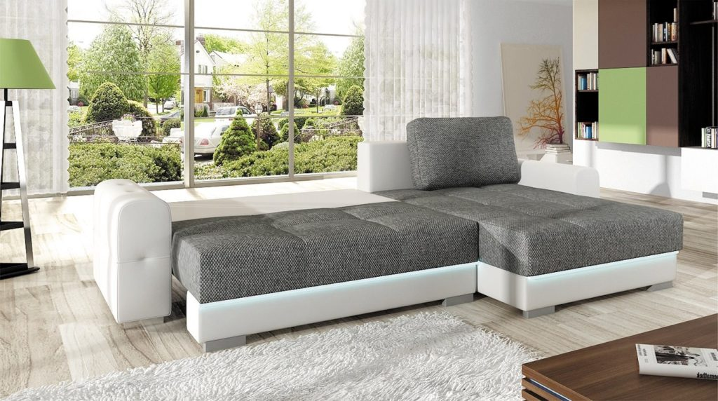 Большой раскладной диван для ежедневного использования в качестве спального места