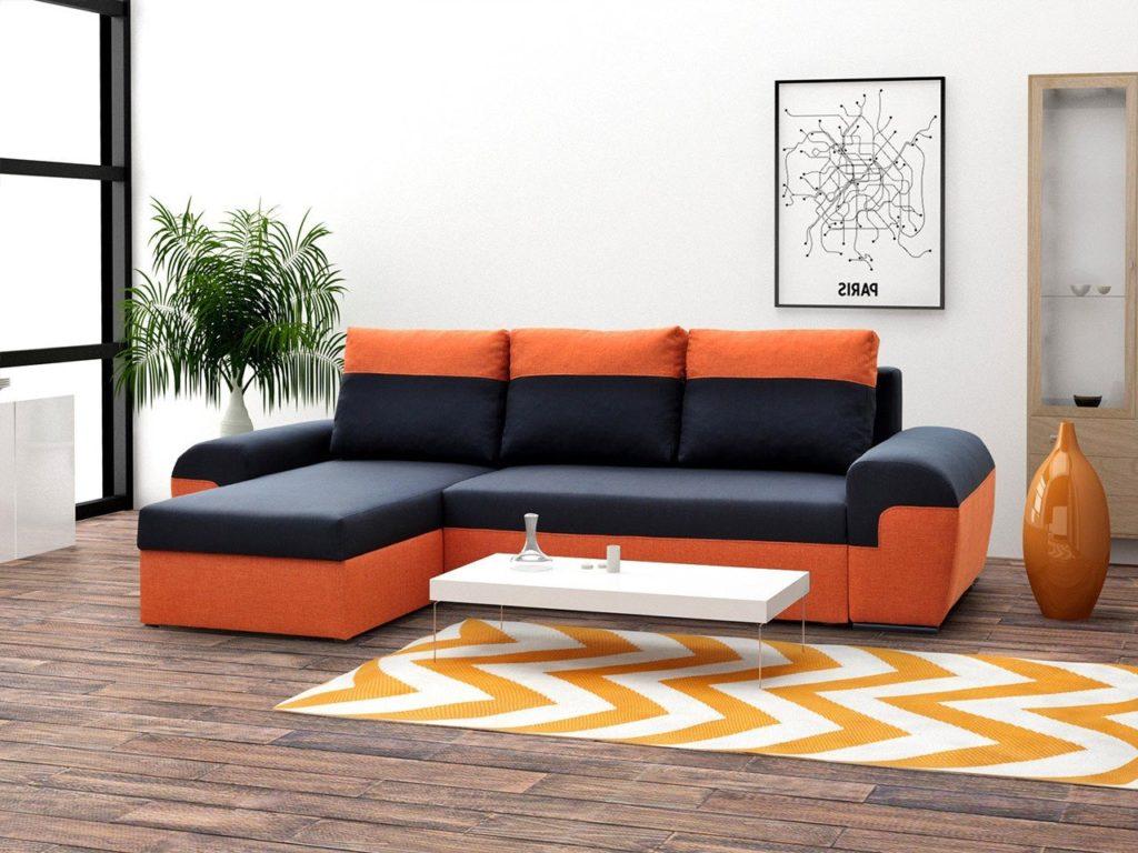 Рыжий диван для сна