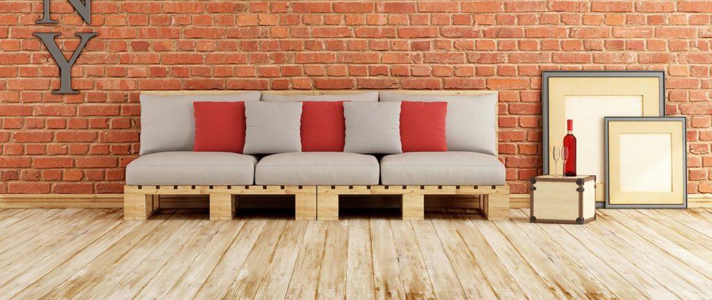Фото дивана сделанного под деревянные поддоны