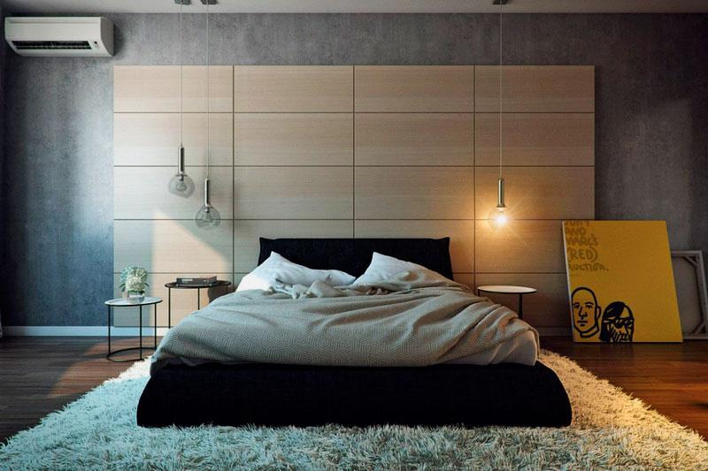 Кровать в спальной комнате (14)
