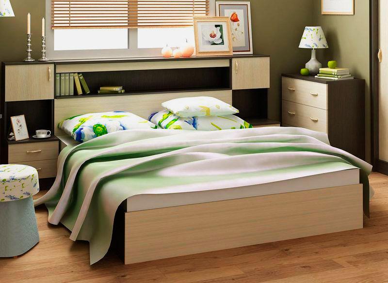 Кровать в спальной комнате (24)