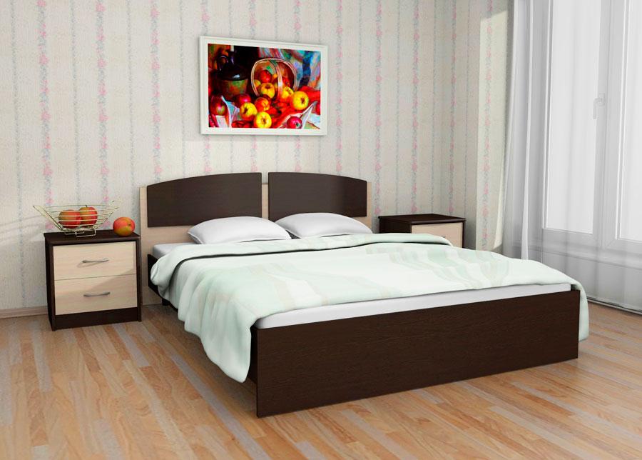 Кровать в спальной комнате (28)
