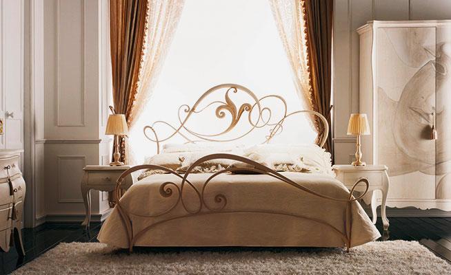 Фото кровати в классическом стиле с изголовьем