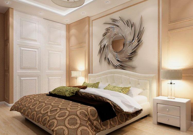 Кровать в спальной комнате (37)