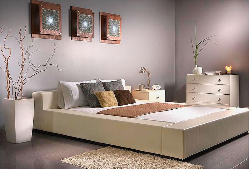 Кровать в спальной комнате (38)