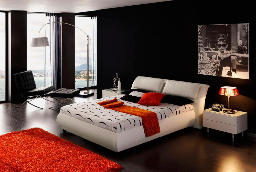 Кровать в спальной комнате (41)
