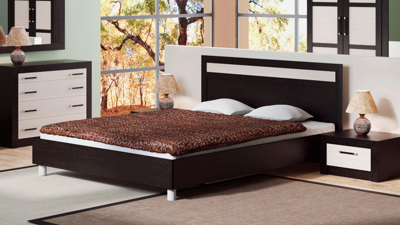 Кровать в спальной комнате (42)