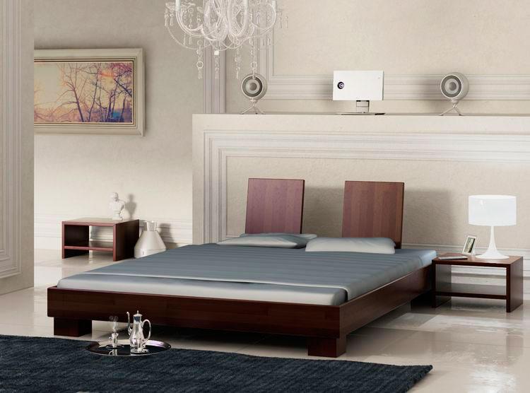 Кровать в спальной комнате (5)