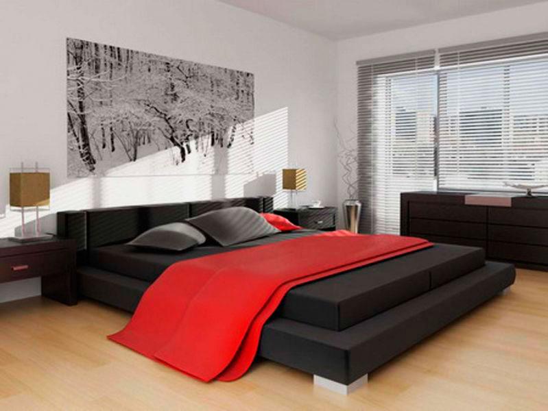 Кровать в спальной комнате (6)