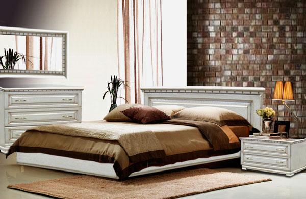 Кровать в спальной комнате (7)