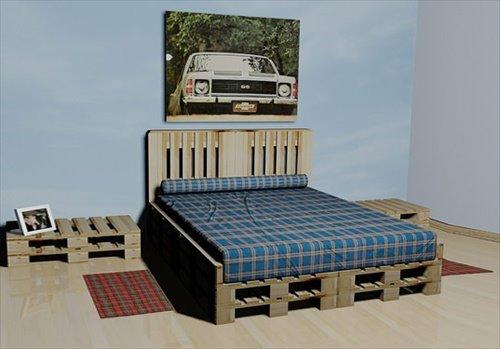 Кровать из деревянных поддонов (14)
