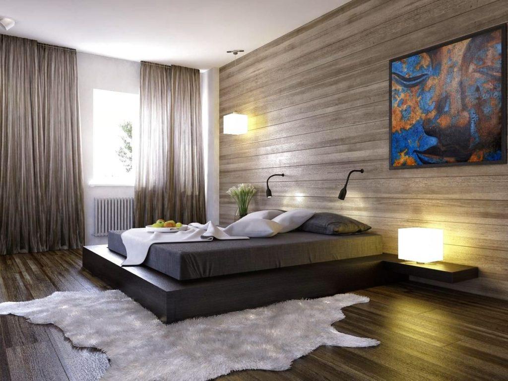 Фото стильной кровати-подиума