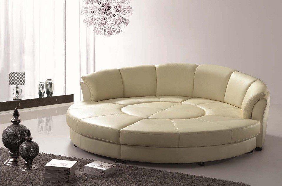 Фото модульного круглого дивана со спальным местом