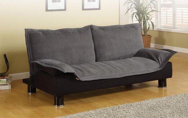 Раскладной диван-кровать в интерьере компактных размеров