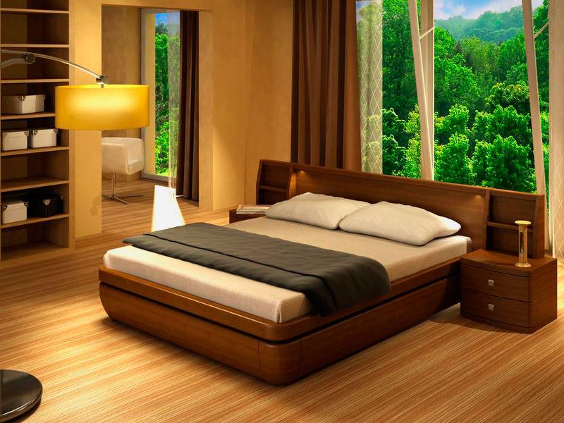 Фото кровати с двуспальным матрасом