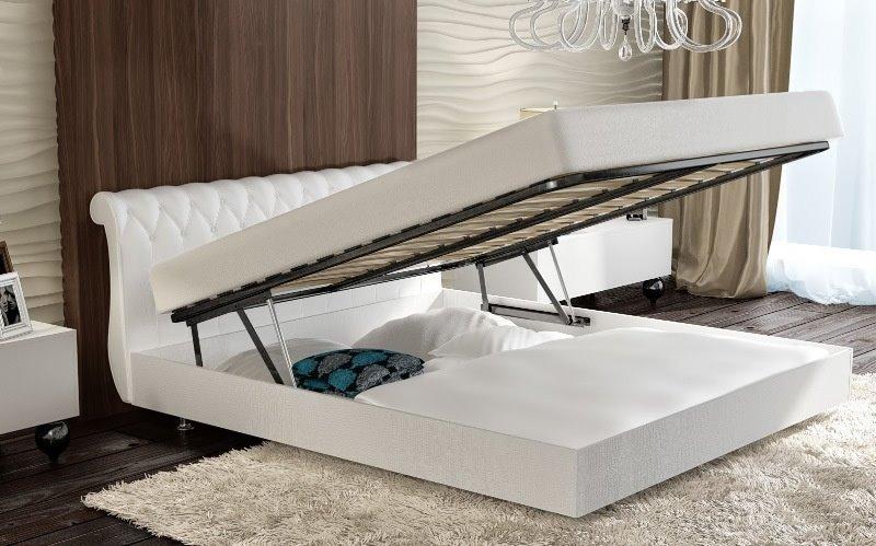 Основание кровати установленное на подъёмный механизм