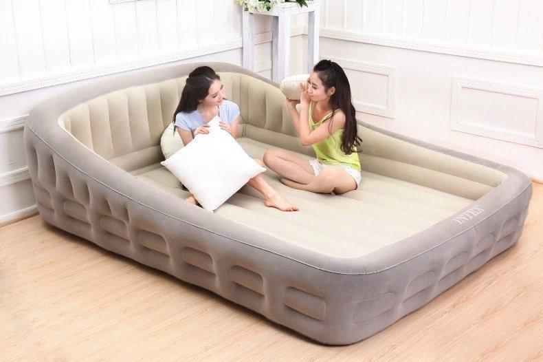 Большая надувная кровать с нишей под матрас