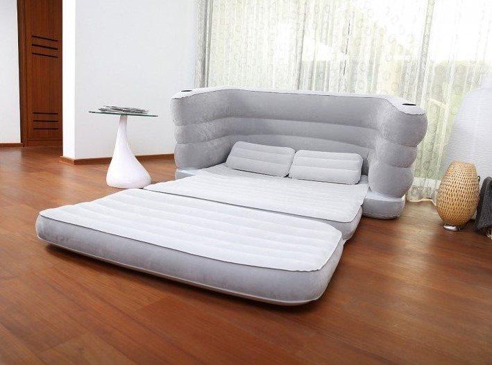 Надувной раскладной диван-кровать со спальным местом